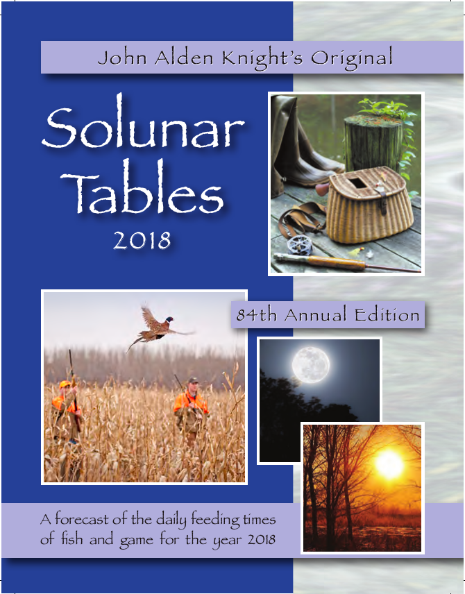 Solunar Tables Booklet Solunar Tables